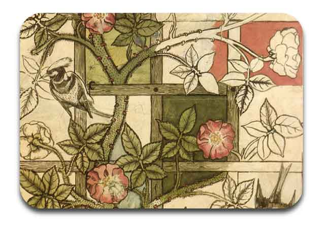 salah satu karya desain william morris yang mewakili gaya arts and crafts movement