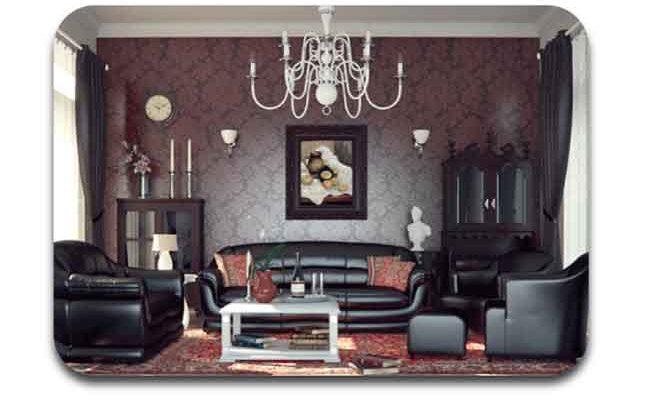 Desain furniture dan Wallpaper Victorian klasik